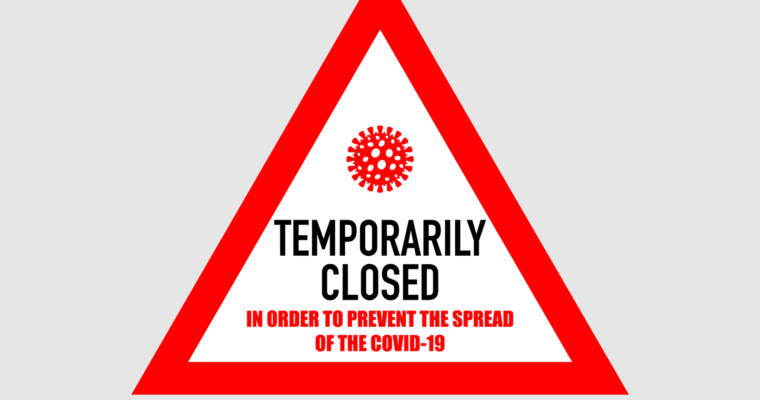 Temporarily closed to prevent the spread of COVID-19